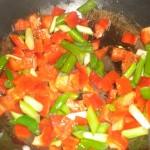 Svits peberfrugt og forårsløg.
