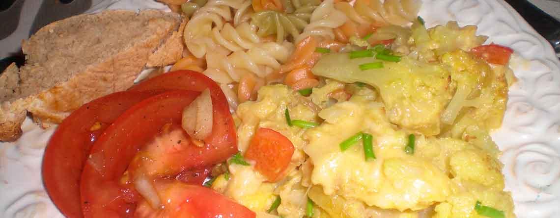 Havtaskehale sauteret med grøntsager