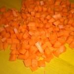 Skær gulerødder, …