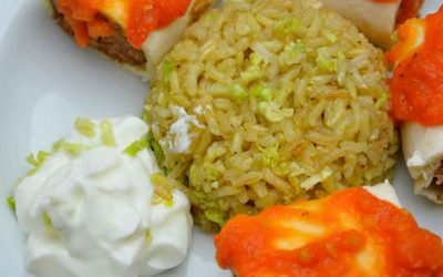 Beyti kebab med rispilaf