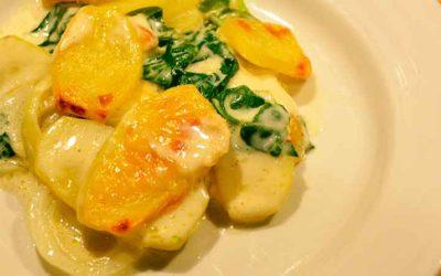 Flødekartofler med spinat