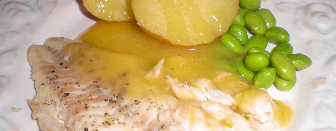 Torskefilet med limesauce