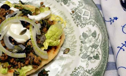 Chapati med orientalsk inspirret fyld
