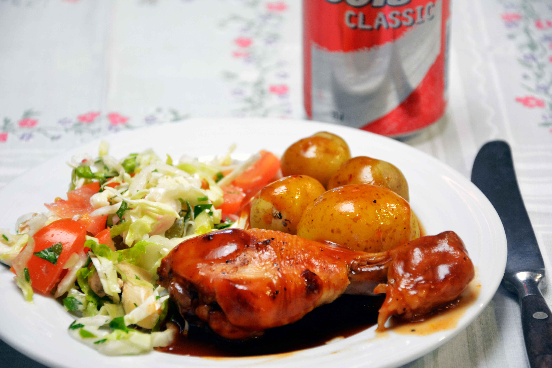 Kylling i cola – med barbecuesmag