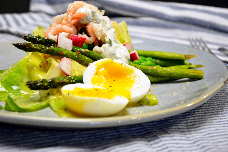 Salat med grillet spidskål